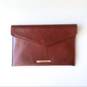 NWOT Leather Envelope Clutch